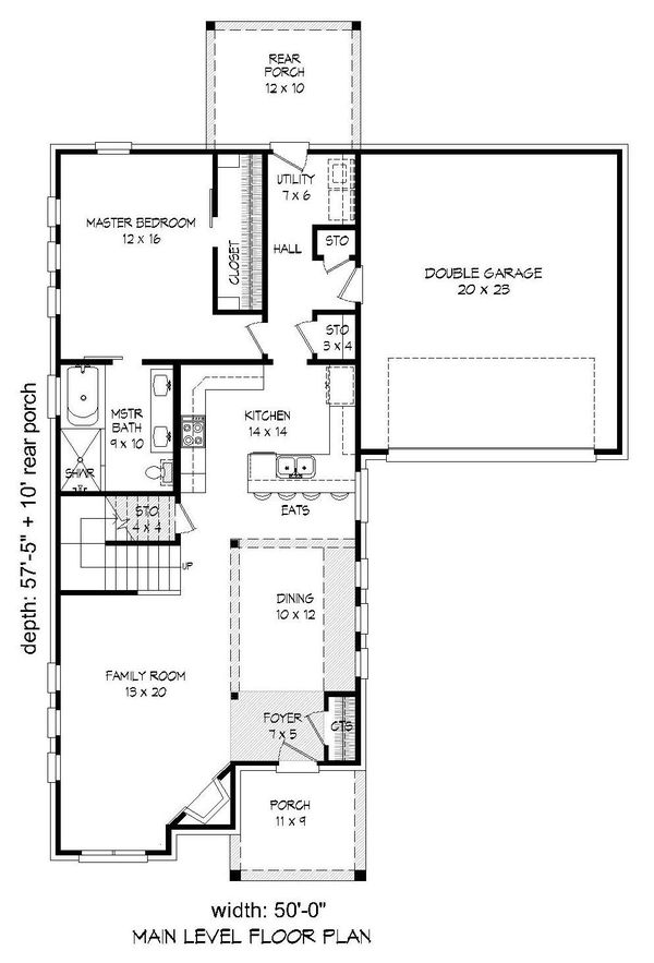 Dream House Plan - Country Floor Plan - Main Floor Plan #932-259