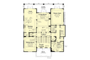 European Style House Plan - 4 Beds 4.5 Baths 5045 Sq/Ft Plan #930-505 Floor Plan - Upper Floor Plan