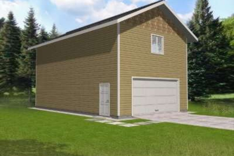 Traditional Exterior - Front Elevation Plan #117-493 - Houseplans.com