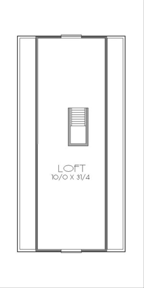 Traditional Floor Plan - Upper Floor Plan #423-38