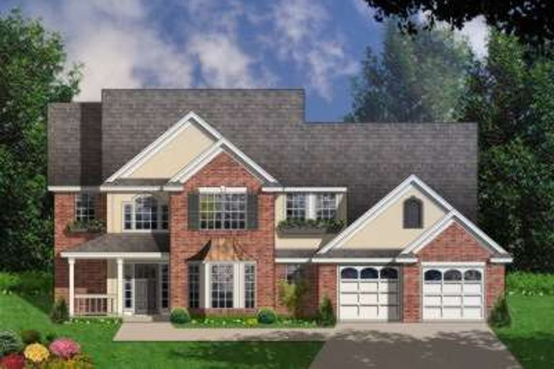 Country Exterior - Front Elevation Plan #40-206