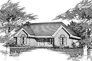 Cottage Exterior - Front Elevation Plan #329-159
