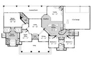 Colonial Style House Plan - 4 Beds 3 Baths 2668 Sq/Ft Plan #417-301 Floor Plan - Main Floor Plan