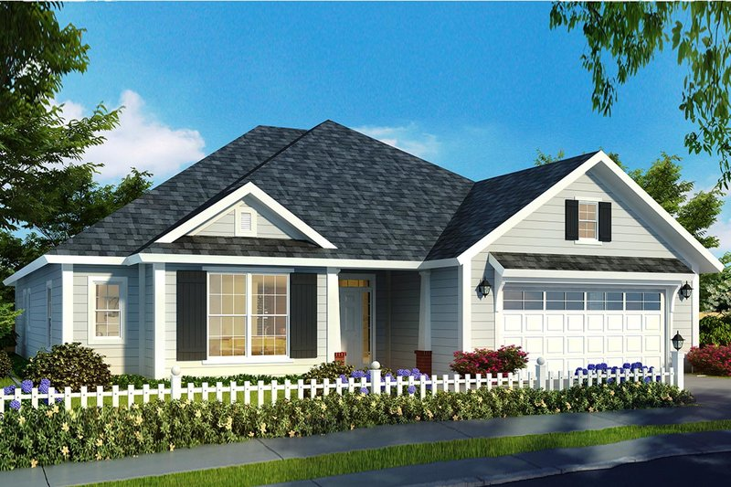 House Plan Design - Ranch Exterior - Front Elevation Plan #513-2173