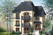 European Style House Plan - 3 Beds 1 Baths 3765 Sq/Ft Plan #25-303 Exterior - Front Elevation