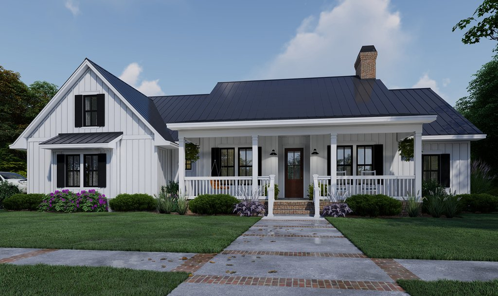 Farmhouse Style House Plan 4 Beds 3 Baths 2192 Sq Ft Plan 120 263 Eplans Com