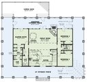 Country Style House Plan - 5 Beds 3 Baths 2903 Sq/Ft Plan #17-3428