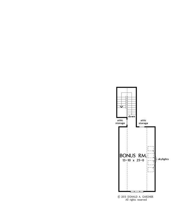 Country Floor Plan - Upper Floor Plan Plan #929-8