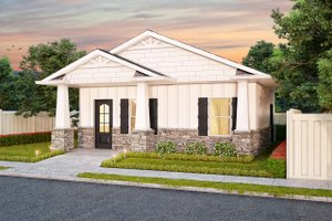House Design - Ranch Exterior - Front Elevation Plan #1077-6