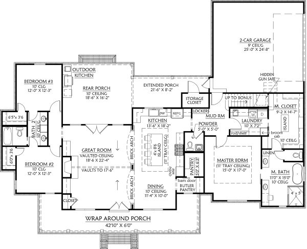 Home Plan - Optional Rear Garage