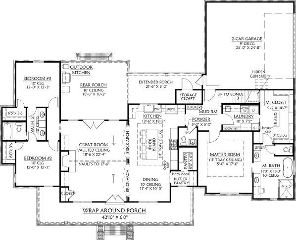 Architectural House Design - Optional Rear Garage