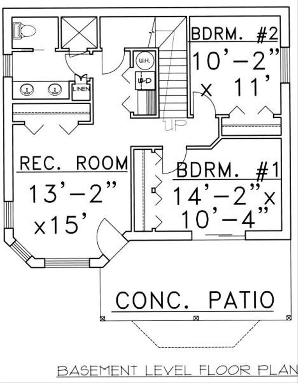Traditional Floor Plan - Lower Floor Plan Plan #117-557
