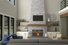 House Plan Design - Farmhouse Interior - Family Room Plan #1070-39