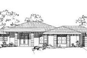 Adobe / Southwestern Style House Plan - 3 Beds 2 Baths 2145 Sq/Ft Plan #24-187 Exterior - Front Elevation