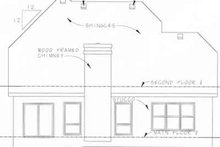 Home Plan Design - Farmhouse Exterior - Rear Elevation Plan #20-1221