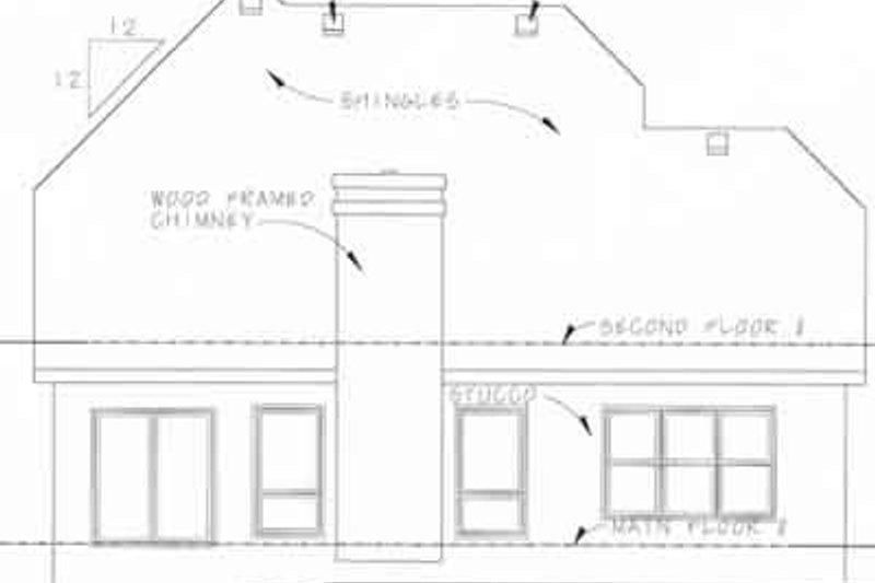 Farmhouse Exterior - Rear Elevation Plan #20-1221 - Houseplans.com