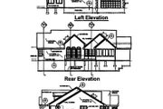 European Style House Plan - 3 Beds 2.5 Baths 1951 Sq/Ft Plan #50-268 Exterior - Rear Elevation