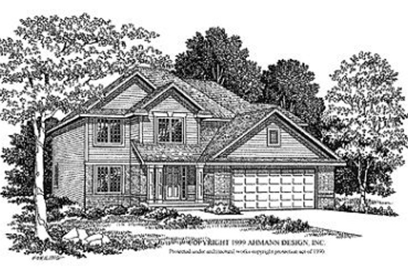 Traditional Exterior - Front Elevation Plan #70-372