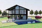 Modern Style House Plan - 3 Beds 3 Baths 2114 Sq/Ft Plan #542-4