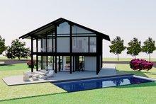 Modern Exterior - Rear Elevation Plan #542-4