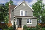 Farmhouse Style House Plan - 3 Beds 2.5 Baths 1490 Sq/Ft Plan #48-977 Exterior - Rear Elevation