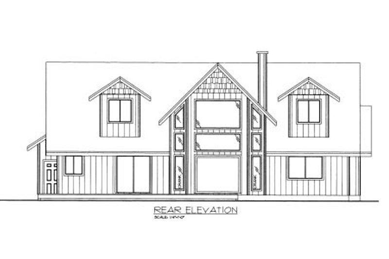 Traditional Exterior - Rear Elevation Plan #117-490 - Houseplans.com