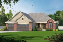 Dream House Plan - Traditional Exterior - Front Elevation Plan #20-2078