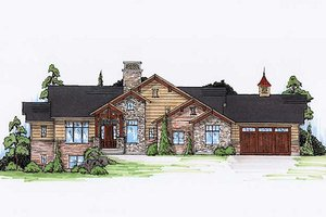 House Plan Design - Craftsman Exterior - Front Elevation Plan #5-249