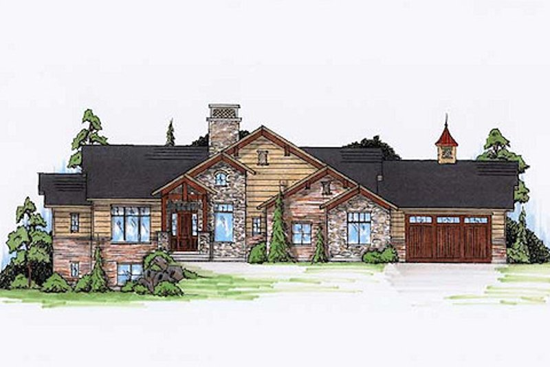 Architectural House Design - Craftsman Exterior - Front Elevation Plan #5-249