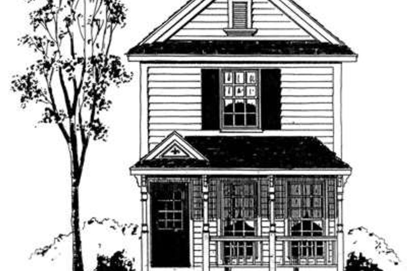Farmhouse Style House Plan - 2 Beds 2.5 Baths 1050 Sq/Ft Plan #410-248