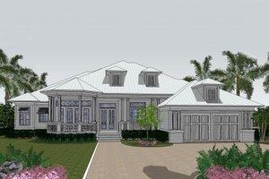 Beach Exterior - Front Elevation Plan #548-13