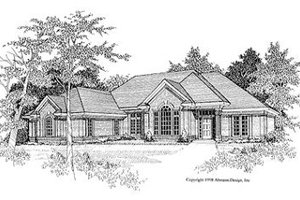 Traditional Exterior - Front Elevation Plan #70-378