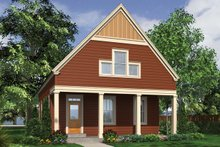 Beach Exterior - Front Elevation Plan #48-974