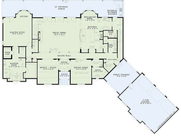 European Floor Plan - Main Floor Plan Plan #17-2437