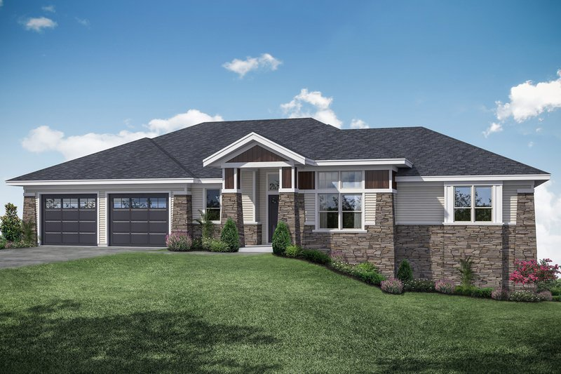 Home Plan - Traditional Exterior - Front Elevation Plan #124-1118