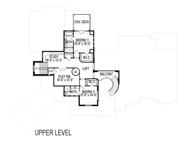 European Floor Plan - Upper Floor Plan Plan #920-126