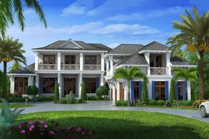 Beach Exterior - Front Elevation Plan #27-462