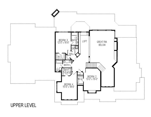 Architectural House Design - Craftsman Floor Plan - Upper Floor Plan #920-59