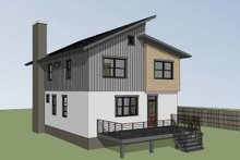 Dream House Plan - Contemporary Exterior - Rear Elevation Plan #79-316