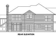 House Design - European Exterior - Rear Elevation Plan #48-328