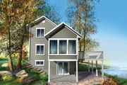 Country Style House Plan - 3 Beds 1 Baths 1036 Sq/Ft Plan #25-4746 Exterior - Front Elevation