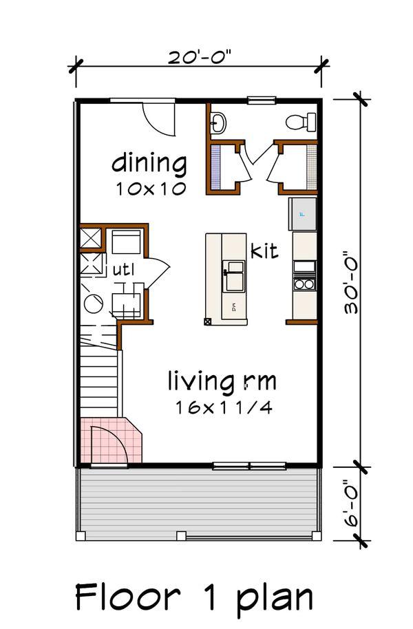 House Plan Design - Craftsman Floor Plan - Main Floor Plan #79-311