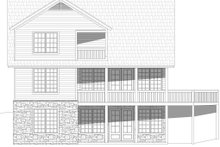Architectural House Design - Cabin Exterior - Rear Elevation Plan #932-344