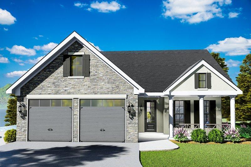 Dream House Plan - Cottage Exterior - Front Elevation Plan #406-9660
