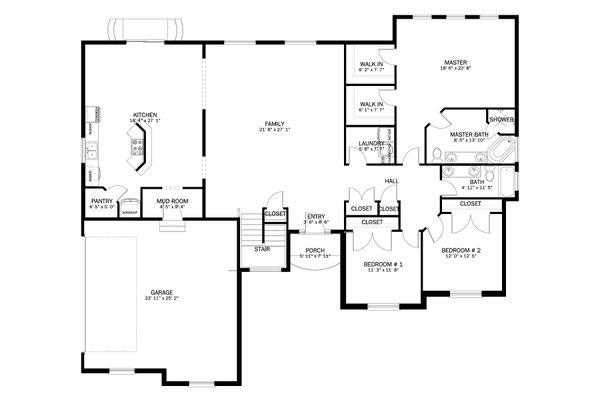 Home Plan - Ranch Floor Plan - Main Floor Plan #1060-13