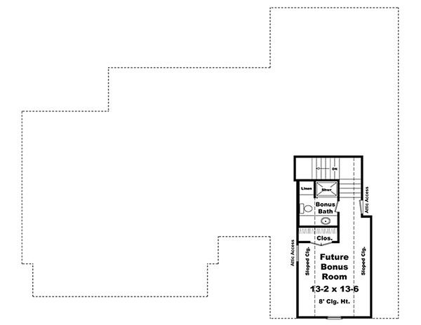 Craftsman Floor Plan - Other Floor Plan Plan #21-289