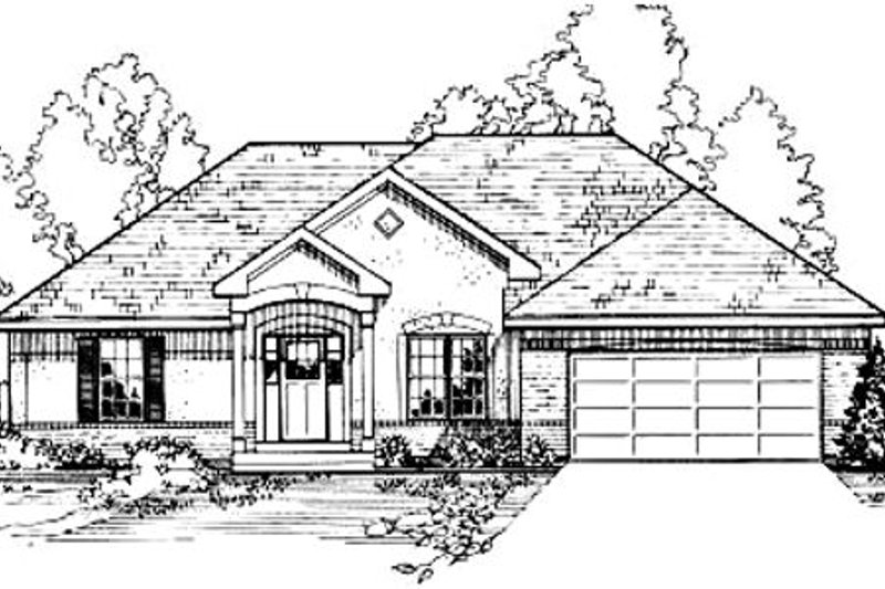 Traditional Style House Plan - 3 Beds 2 Baths 1555 Sq/Ft Plan #31-121
