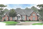 European Style House Plan - 4 Beds 4.5 Baths 5446 Sq/Ft Plan #1054-91 Exterior - Front Elevation