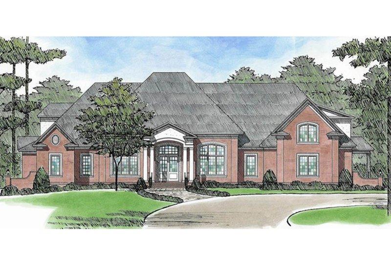 House Plan Design - European Exterior - Front Elevation Plan #1054-91