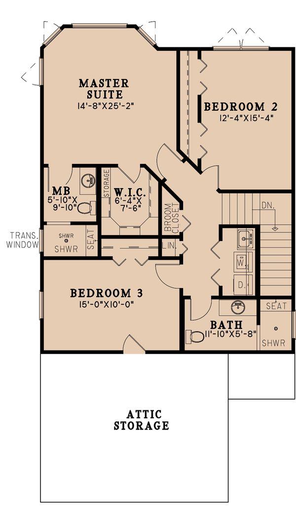 Craftsman Floor Plan - Upper Floor Plan #923-196